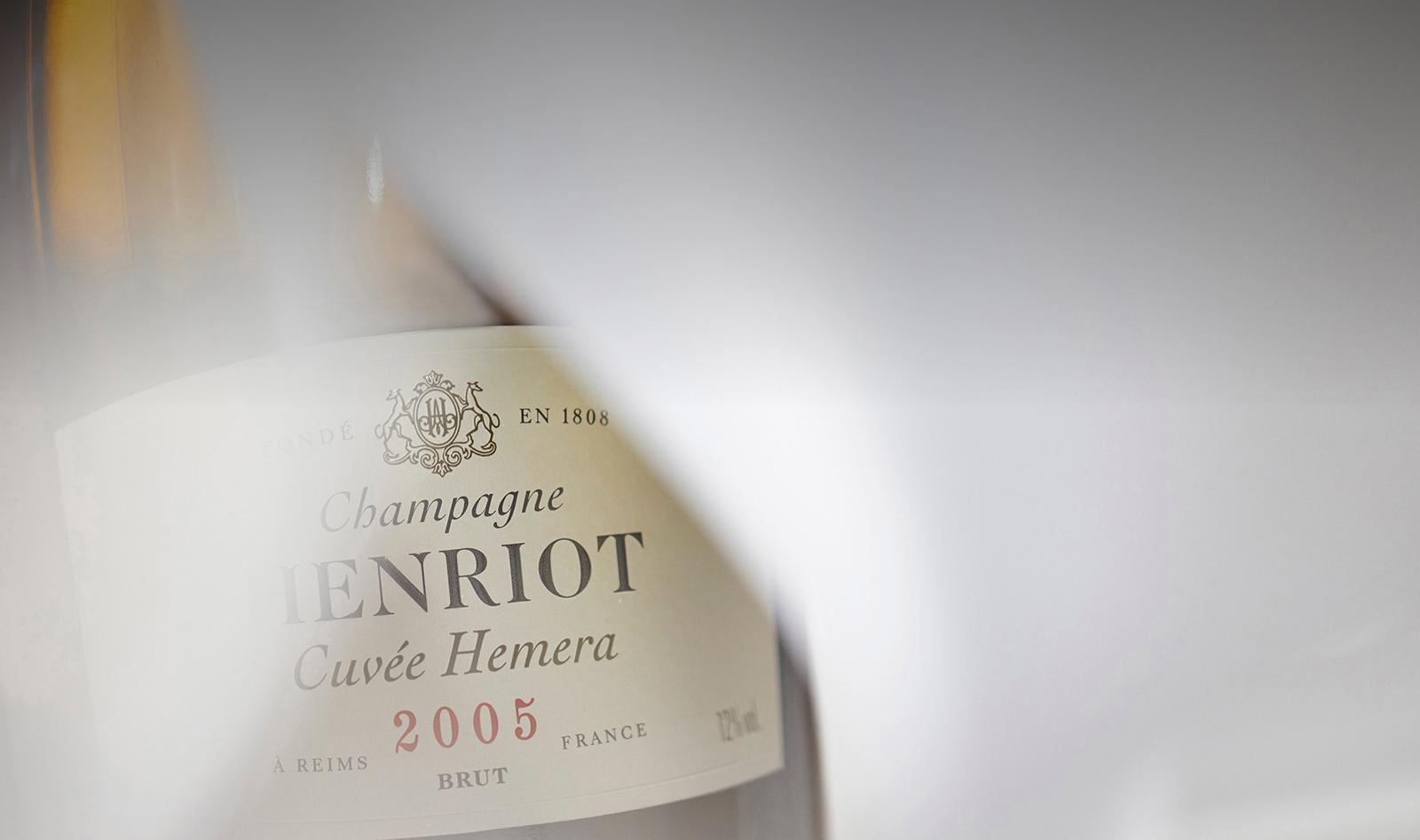 Bottle of Champagne Henriot Cuvée Hemera